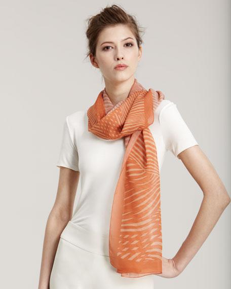 Abstract-Print Silk Stole