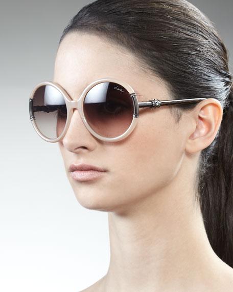 Lanvin Shiny Opaline Sunglasses, Ivory