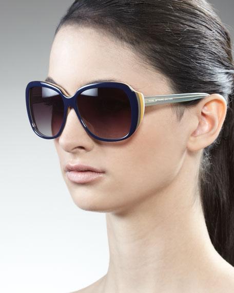 Striped Sunglasses, Teal