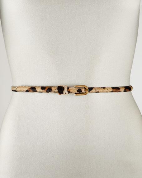 Skinny Leopard-Print Belt