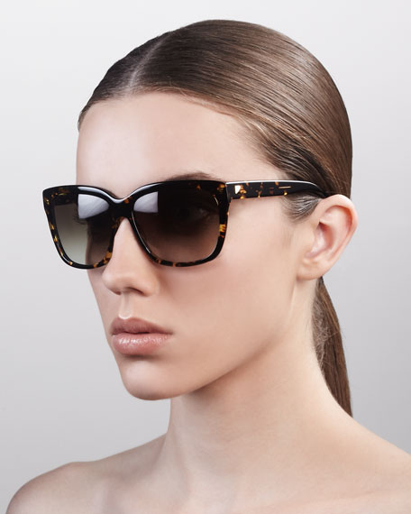 Lovestruck Square Gradient Sunglasses, Heroine Chic