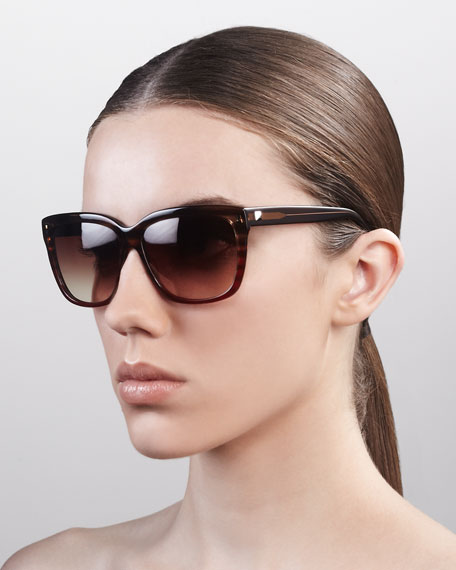 Lovestruck Square Gradient Sunglasses, Gypsy Rose