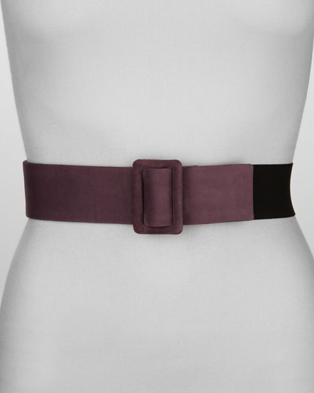 Suede & Elastic Belt