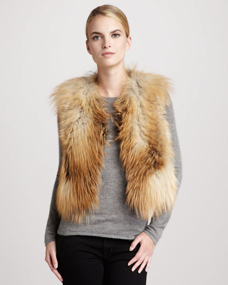 Golden Fox Fur Vest