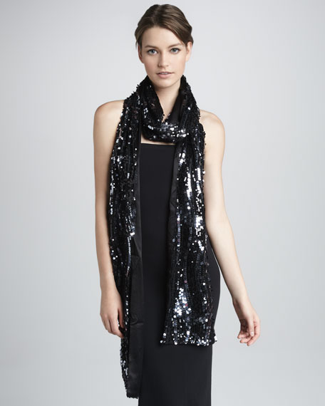 Sequin Long Scarf