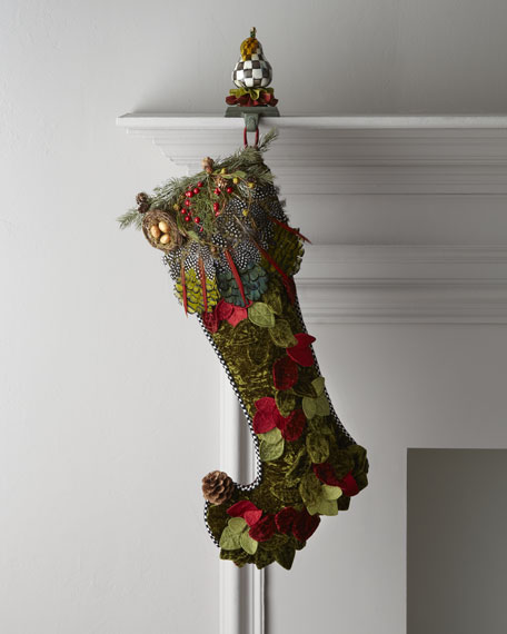 """Woodland"" Christmas Stocking"