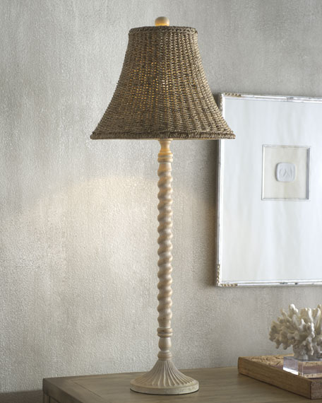 """Twisted Wood"" Buffet Lamp"