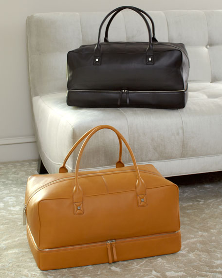 Square Leather Duffle