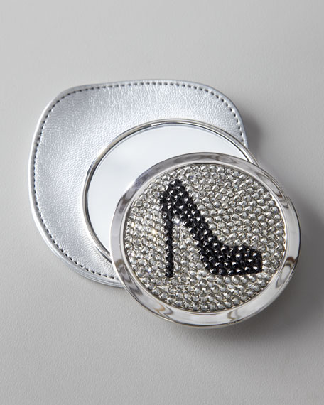 Mirror with Black Rhinestone Pump