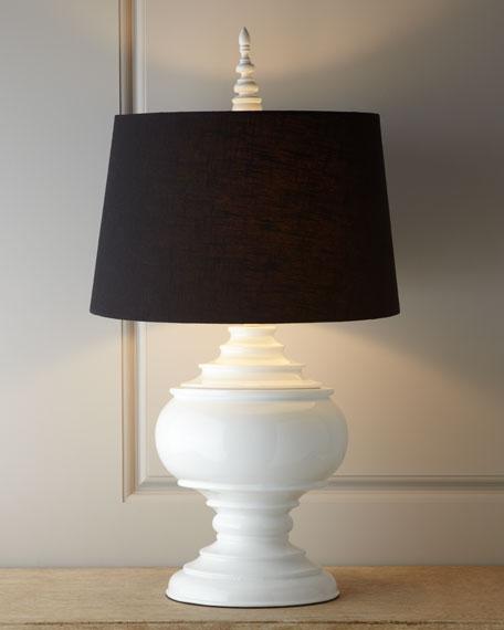 White Burma Lamp