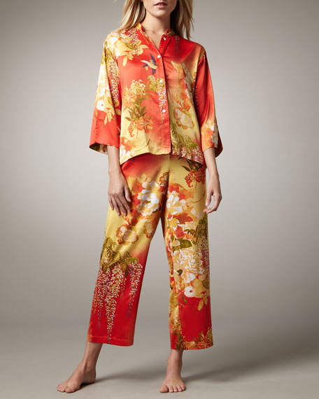 Fuji Floral-Print Pajamas