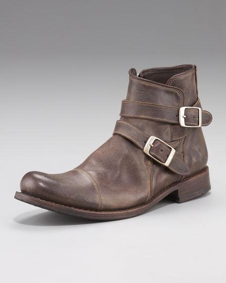 Brixton Buckle Boot, Dark Brown
