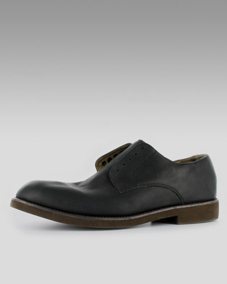 Broken-In Laceless Lace-Up, Black