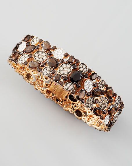 Shanghai Diamond & Smoky Quartz Bracelet