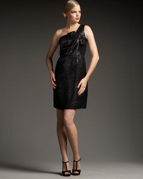 erika one-shoulder bow dress