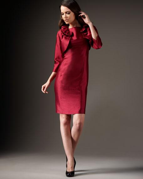 Ruffled Crop Jacket and Dress