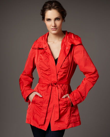 Water-Repellant Ruched Jacket