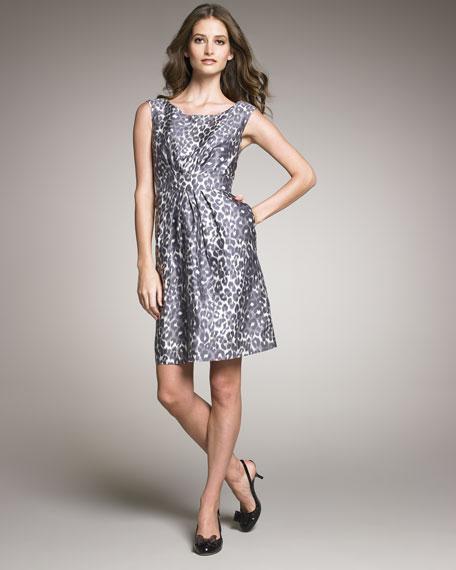 Deanna Leopard-Print Dress