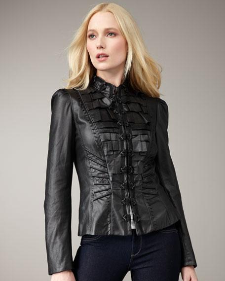 Mandy Folded Leather Jacket