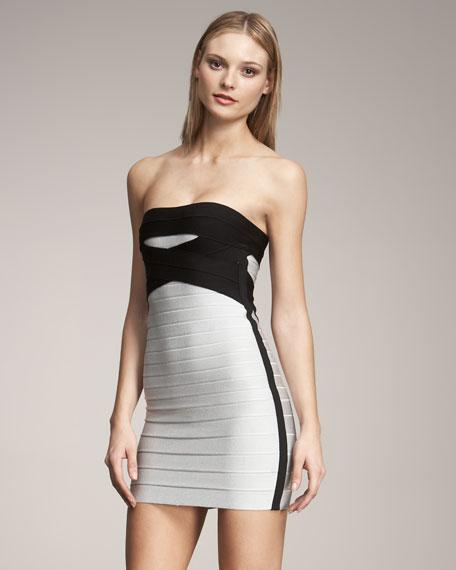 Colorblock Tube Bandage Dress
