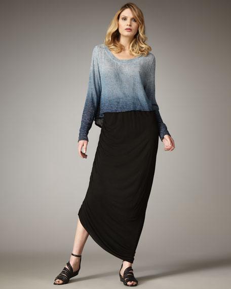 Jennifer Side-Ruch Maxi Skirt