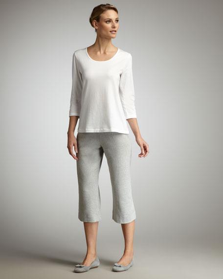 Cropped Knit Pants