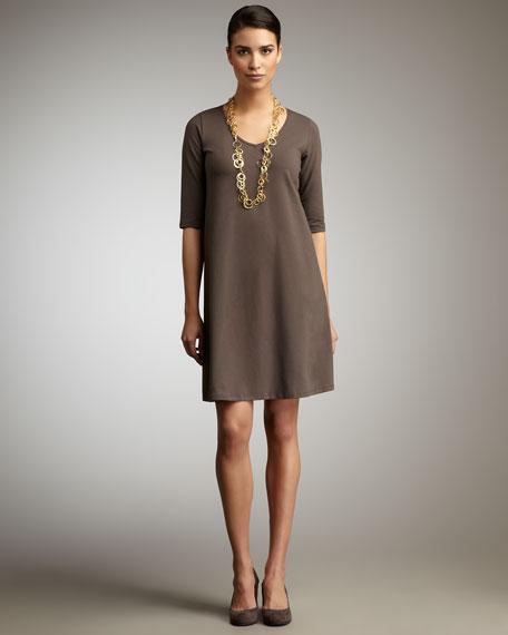 V-Neck Jersey Dress