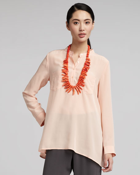 Boxy Silk Blouse, Women's