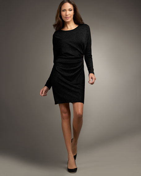 Dolman-Sleeve Dress
