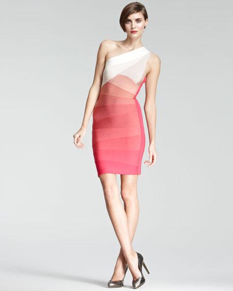 One-Shoulder Bandage Dress