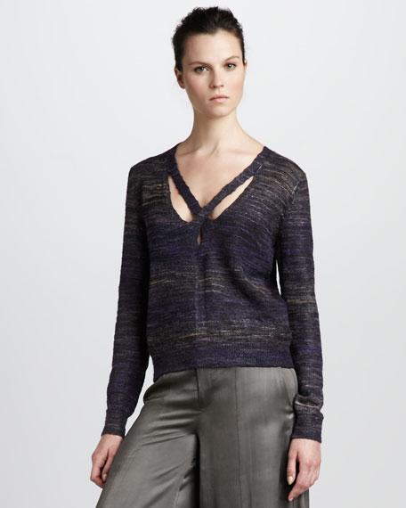 Cross-Neck Sweater