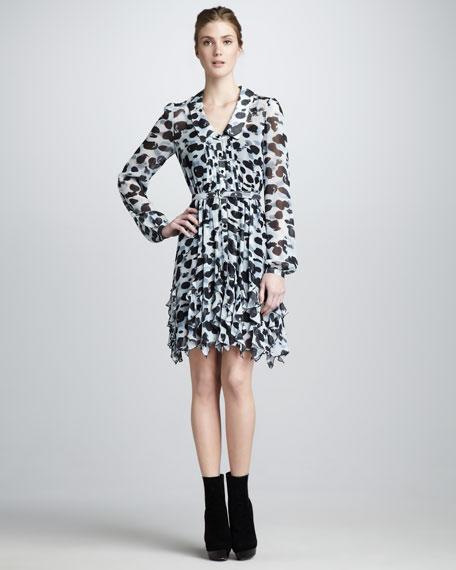 Devon Printed Silk Shirtdress