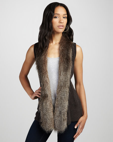 Sherwood Faux-Fur-Trim Vest