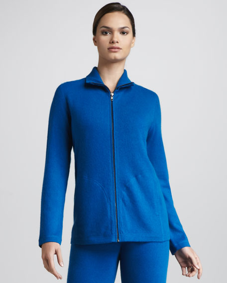 Basic Cashmere Zip Sweater
