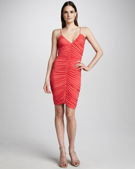 Ruched Cocktail Dress, Poppy