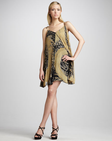 Cutaway Chiffon Dress