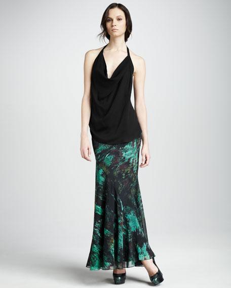 Bias Chiffon Maxi Skirt