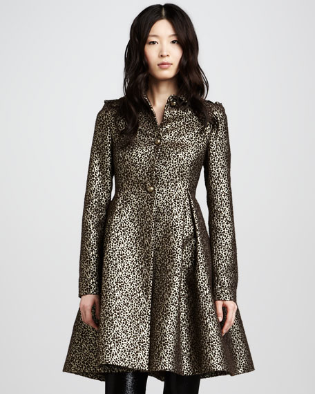 Connie Metallic Flounce Coat