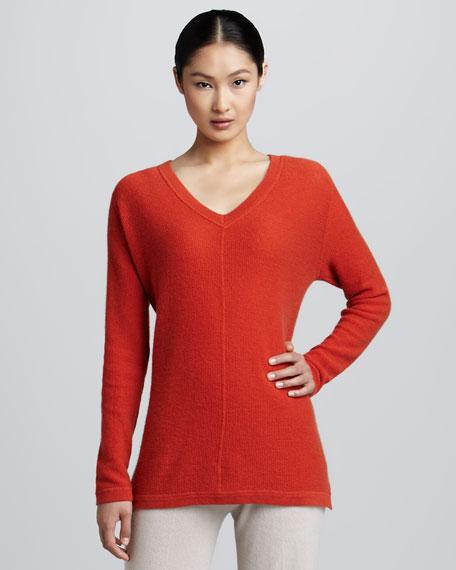 Pique-Knit Cashmere Tunic