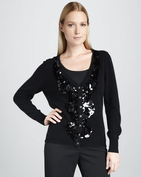 Sequined Cashmere Cardigan