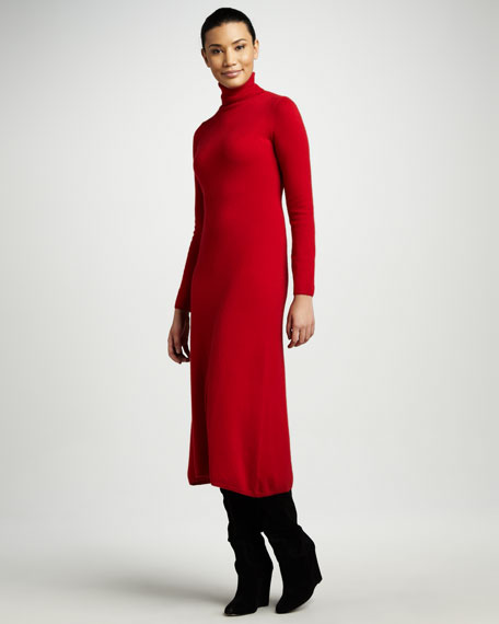 Cashmere Turtleneck Lounge Dress