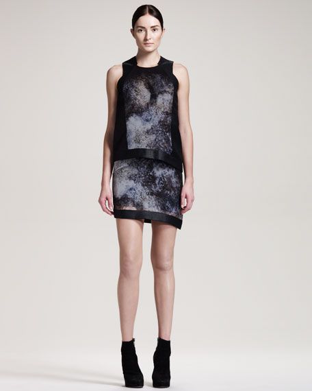 Oxide-Print Chiffon Dress