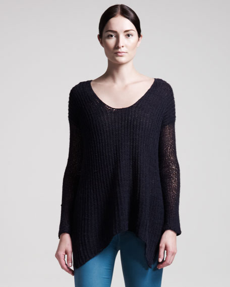 Lux Wool-Blend Pullover