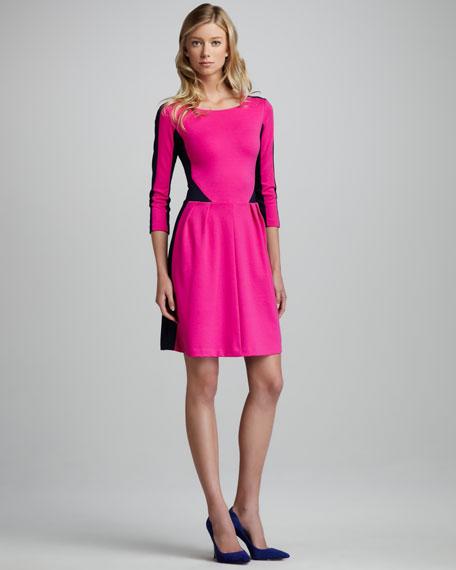 Contrast Ponte Dress