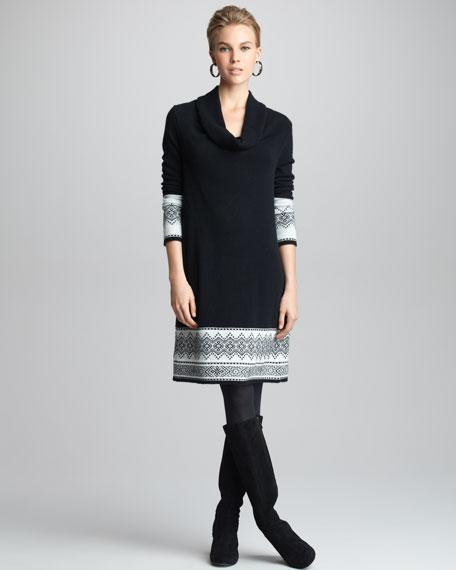 WINTER INTRSA COWL NCK DRESS