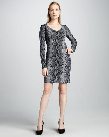 Python-Print Cashmere Dress