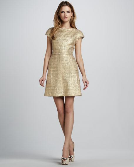 Elise Metallic Tweed Dress