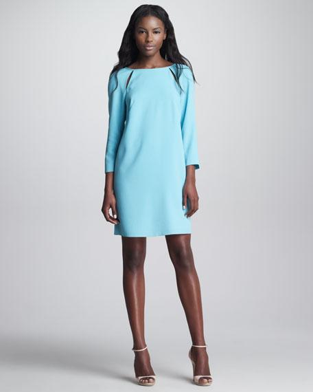 Peekaboo Shoulder Shift Dress