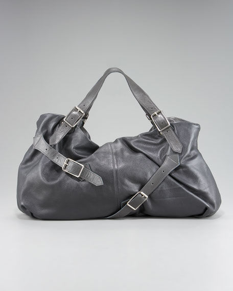 Leather Buckle Satchel