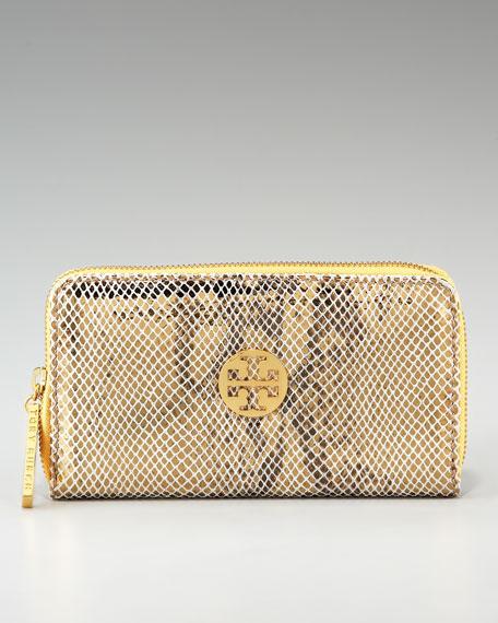 Metallic Snake Continental Wallet